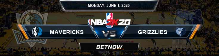 NBA 2k20 Sim Dallas Mavericks vs Memphis Grizzlies 6-1-2020 NBA Odds and Picks