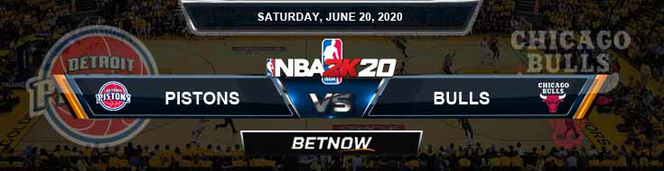 NBA 2k20 Sim Detroit Pistons vs Chicago Bulls 6-20-2020 NBA Odds and Picks