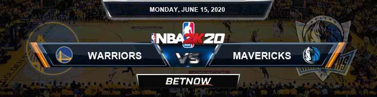 NBA 2k20 Sim Golden State Warriors vs Dallas Mavericks 6-15-2020 NBA Odds and Picks