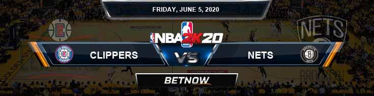 NBA 2k20 Sim Los Angeles Clippers vs Brooklyn Nets 6-5-2020 NBA Odds and Picks