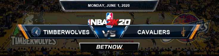 NBA 2k20 Sim Minnesota Timberwolves vs Cleveland Cavaliers 6-1-2020 NBA Odds and Picks