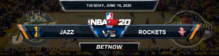 NBA 2k20 Sim Utah Jazz vs Houston Rockets 6-16-2020 NBA Odds and Picks