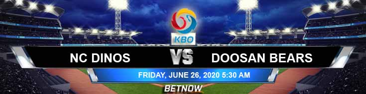 NC Dinos vs Doosan Bears 06-26-2020 KBO Previews Betting Tips and Game Analysis