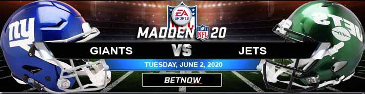 New York Giants vs New York Jets 06-02-2020 NFL Madden20 Odds Betting Picks and Football Predictions