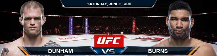 UFC 250 Dunham vs Burns 06-06-2020 UFC Results Fight Analysis and Betting Picks