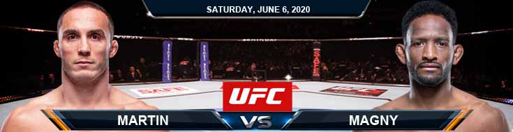 UFC 250 Martin vs Magny 06-06-2020 UFC Spread Fight Analysis and Betting Forecast