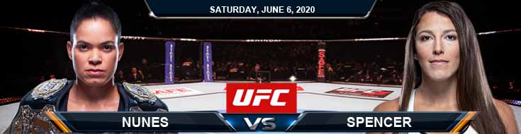 UFC 250 Nunes vs Spencer 06-06-2020 UFC Picks Predictions and Betting Previews