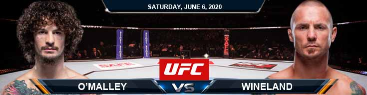 UFC 250 O'Malley vs Wineland 06-06-2020 UFC Picks Betting Predictions and Previews