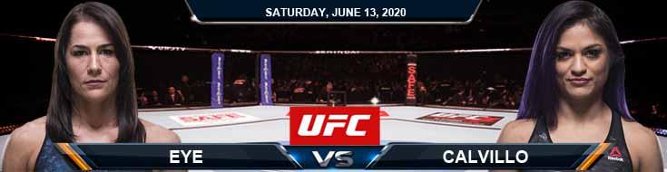 UFC Fight Night 172 Eye vs Calvillo 06-13-2020 UFC Odds Picks and Betting Predictions