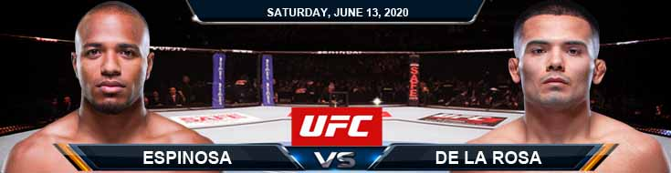 UFC on ESPN 10 Espinosa vs De La Rosa 06-13-2020 UFC Forecasts Betting Tips and Picks