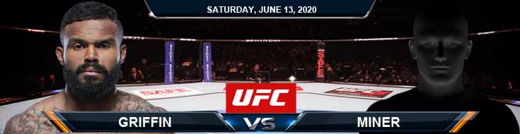 UFC on ESPN 10 Griffin vs Minner 06-13-2020 UFC Previews Fight Analysis and Betting Odds