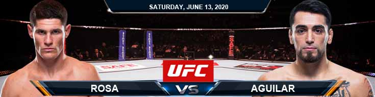UFC on ESPN 10 Rosa vs Aguilar 06-13-2020 UFC Picks Betting Predictions and Previews