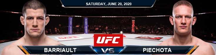UFC on ESPN 11 Barriault vs Piechota 06-20-2020 UFC Predictions Betting Tips and Analysis