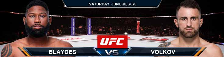 UFC on ESPN 11 Blaydes vs Volkov 06-20-2020 UFC Picks Betting Predictions and Previews