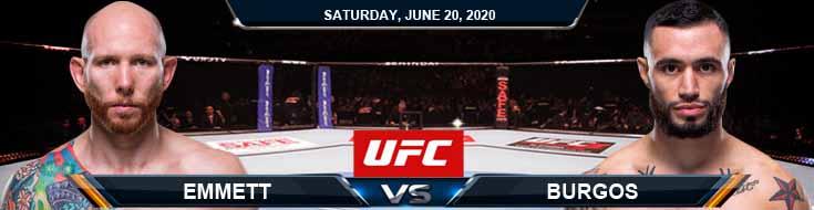 UFC on ESPN 11 Emmett vs Burgos 06-20-2020 UFC Tips Betting Spread and Predictions