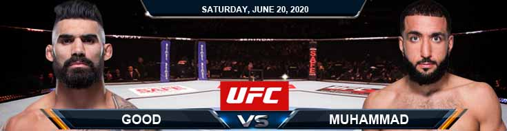 UFC on ESPN 11 Muhammad vs Good 06-20-2020 UFC Picks Predictions and Betting Previews