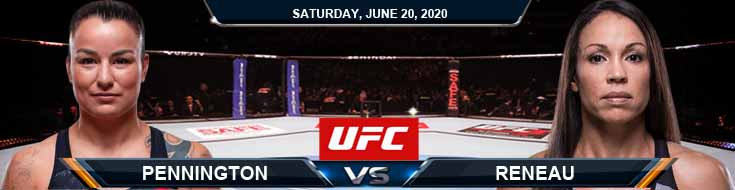 UFC on ESPN 11 Pennington vs Reneau 06-20-2020 UFC Previews Betting Spread and Fight Analysis