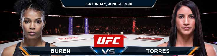 UFC on ESPN 11 Van Buren vs Torres 06-20-2020 UFC Picks Predictions and Betting Previews