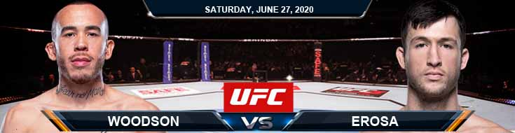 UFC on ESPN 12 Erosa vs Woodson 06-27-2020 UFC Picks Predictions and Betting Previews