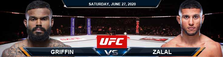 UFC on ESPN 12 Griffin vs Zalal 06-27-2020 UFC Spread Fight Analysis and Betting Forecasts