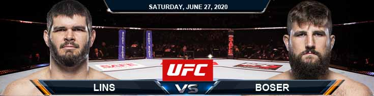 UFC on ESPN 12 Lins vs Boser 06-27-2020 UFC Results Analysis and Betting Odds