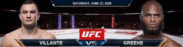 UFC on ESPN 12 Villante vs Greene 06-27-2020 UFC Analysis Odds and Betting Picks