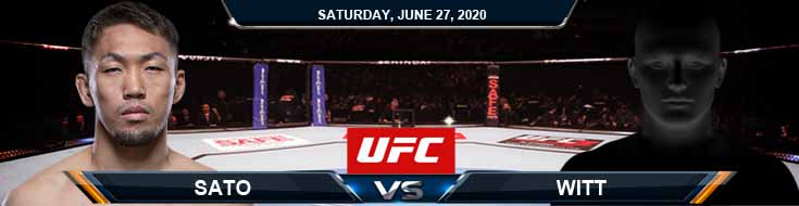 UFC on ESPN 12 Witt vs Sato 06-27-2020 UFC Tips Betting Results and Analysis