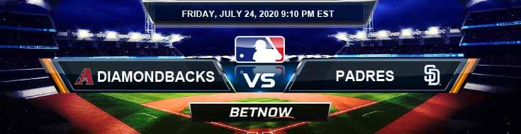 Arizona Diamondbacks vs San Diego Padres 07-24-2020 Baseball Odds MLB Predictions and Betting Previews