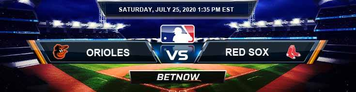Baltimore Orioles vs Boston Red Sox 07-25-2020 MLB Odds Picks and Baseball Predictions
