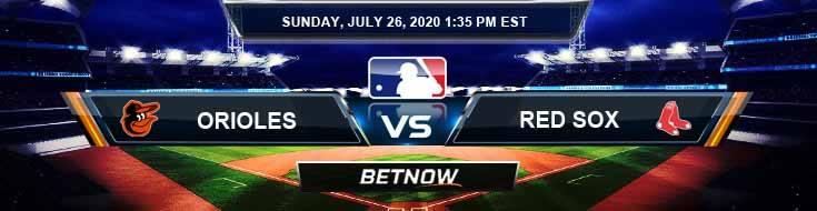 Baltimore Orioles vs Boston Red Sox 07-26-2020 MLB Baseball Betting Picks and Results