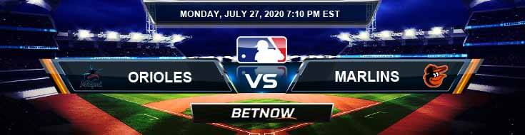 Baltimore Orioles vs Miami Marlins 07-27-2020 MLB Tips Game Analysis and Betting Odds