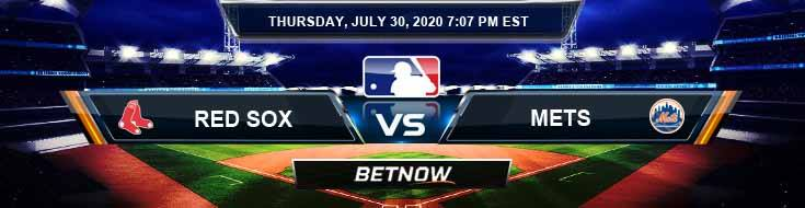 Boston Red Sox vs New York Mets 07-30-2020 MLB Odds Picks and Baseball Predictions