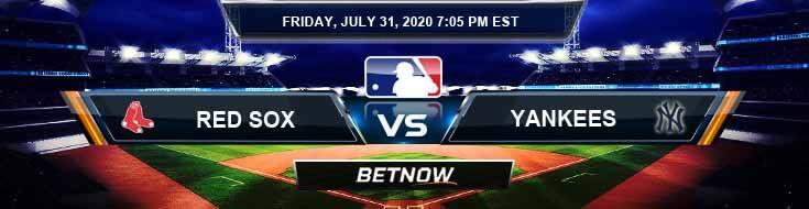 Boston Red Sox vs New York Yankees 07-31-2020 MLB Tips Forecast and Baseball Analysis