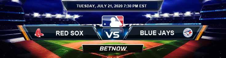 Boston Red Sox vs Toronto Blue Jays 07-21-2020 MLB Forecast Betting Picks and Baseball Odds