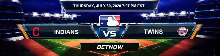 Cleveland Indians vs Minnesota Twins 07-30-2020 MLB Predictions Picks and Betting Odds