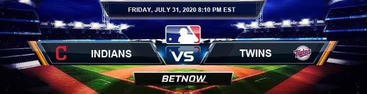 Cleveland Indians vs Minnesota Twins 07-31-2020 MLB Odds Picks and Baseball Predictions