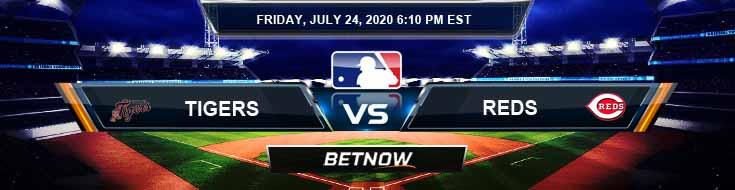 Detroit Tigers vs Cincinnati Reds 07-24-2020 MLB Predictions Analysis and Betting Previews