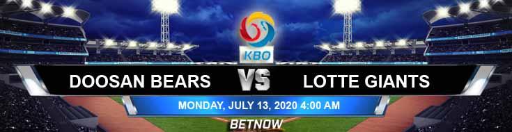 Doosan Bears vs Lotte Giants 07-13-2020 KBO Spread Game Analysis and Baseball Preview