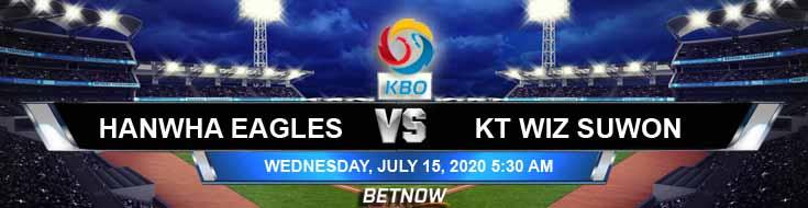 Hanwha Eagles vs KT Wiz Suwon 07-15-2020 KBO Odds Baseball Picks and Betting Predictions