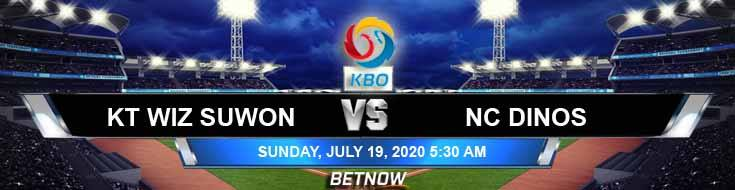 KT Wiz Suwon vs NC Dinos KBO 07-19-2020 KBO Tips Odds and Betting Picks