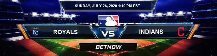 Kansas City Royals vs Cleveland Indians 07-26-2020 Baseball Odds MLB Picks and Predictions
