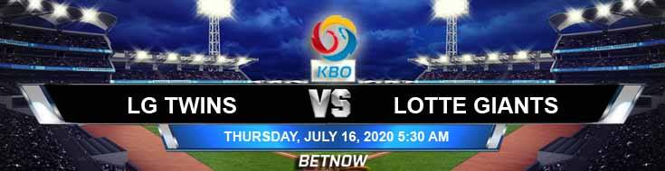 LG Twins vs Lotte Giants 07-16-2020 KBO Forecast Game Analysis and Results