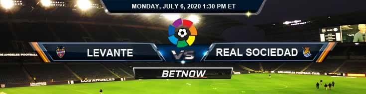 Levante vs Real Sociedad 07-06-2020 Soccer Tips Forecast Betting Analysis