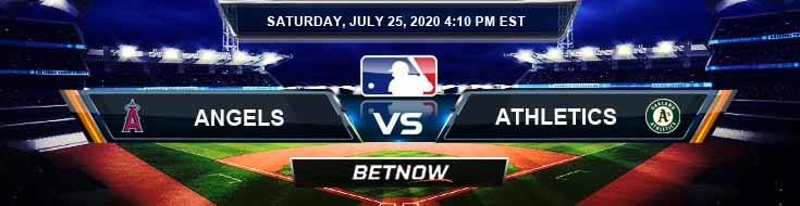 Los Angeles Angels vs Oakland Athletics 07-25-2020 MLB Previews Betting Spread and Game Analysis