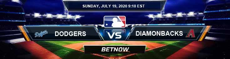 Los Angeles Dodgers vs Arizona Diamondbacks 07-19-2020 MLB Predictions Analysis and Baseball Picks