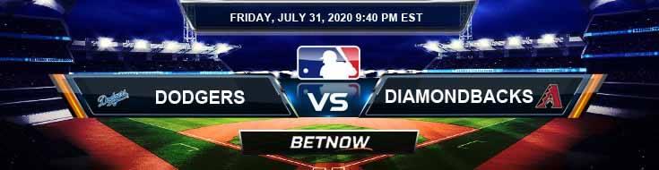Los Angeles Dodgers vs Arizona Diamondbacks 07-31-2020 MLB Spread Game Analysis and Baseball Tips