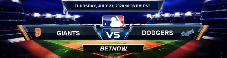 Los Angeles Dodgers vs San Francisco Giants 07-23-2020 MLB Predictions Game Analysis and Baseball Betting