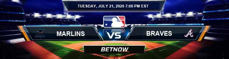 Miami Marlins vs Atlanta Braves 07-21-2020 MLB Picks Baseball Predictions and Betting Previews