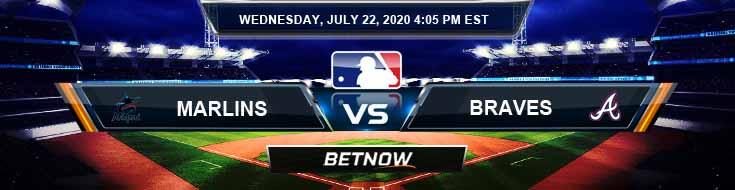 Miami Marlins vs Atlanta Braves 07-22-2020 MLB Odds Baseball Picks and Predictions
