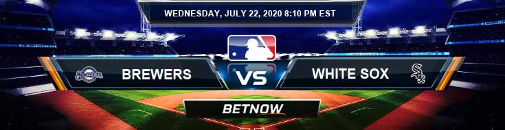 Milwaukee Brewers vs Chicago White Sox 07-22-2020 MLB Predictions Betting Picks and Baseball Odds